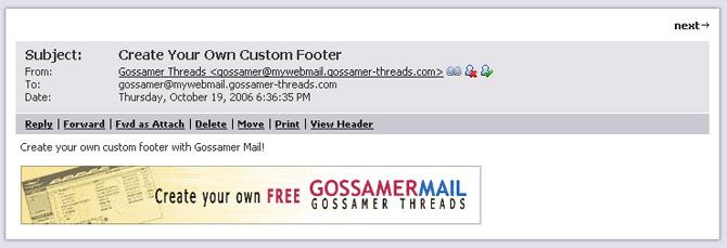 Custom Footer